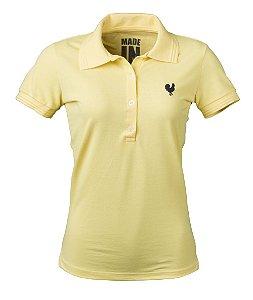 Camisa Polo Feminina Made in Mato Amarela