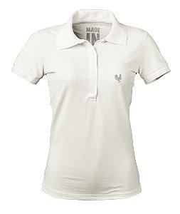 Camisa Polo Feminina Made in Mato Off White