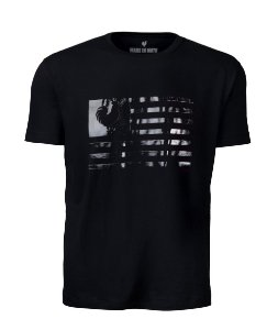 Camiseta Masculina Made in Mato Flag Preta