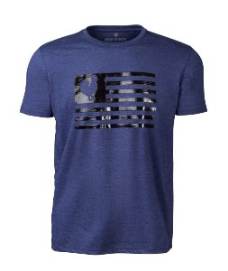 Camiseta Made in Mato Masculina Flag Mescla Marinho