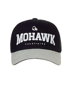 Boné Mohawk Headfields  Preto com Aba Cinza