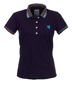 Camisa Polo Feminina Made in Mato Marinho com Friso