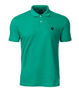 Camisa Polo Masculina Made in Mato Verde Água
