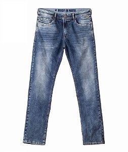 Calça Jeans Made in Mato Masculina Lavagem Blue