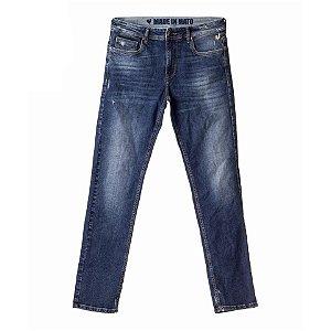 Calça Jeans Made in Mato Masculina Lavagem Azul