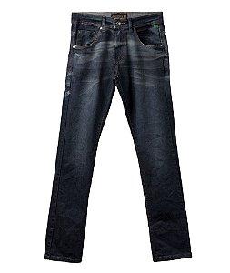 Calça Jeans Made in Mato Masculina Lavagem Escura com detalhes
