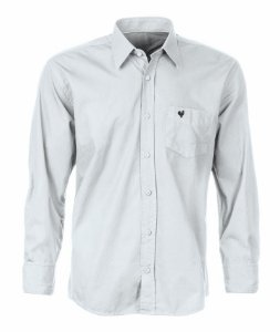 Camisa Masculina Made in Mato Branca com Bolso Bordado