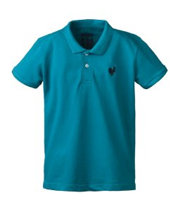 Camisa Polo Made in Mato Infantil Turquesa