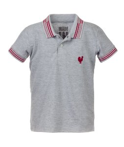 Polo Made in Mato Infantil Mescla com Filete
