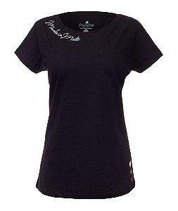 Camiseta Long Feminina Basic Rooster Preta