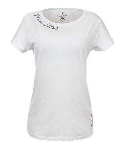 Camiseta Long Feminina Basic Rooster Branca