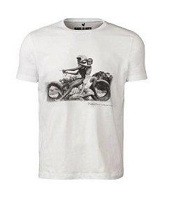 Camiseta Masculina Noilton Pereira Moto Off White