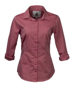 Camisa Made in Mato Feminina Rosa Slim
