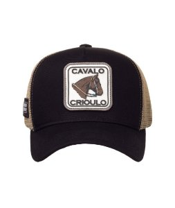 Boné Made in Mato Trucker Cavalo Crioulo