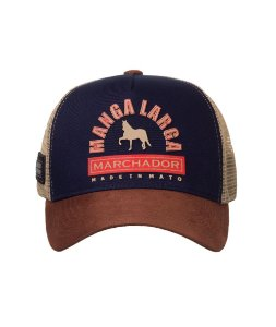 Boné Made in Mato Trucker Manga Larga Marchador Brown