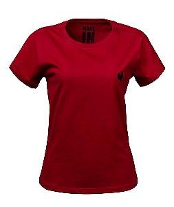 Camiseta Básica Feminina Made in Mato Vermelho Chilli