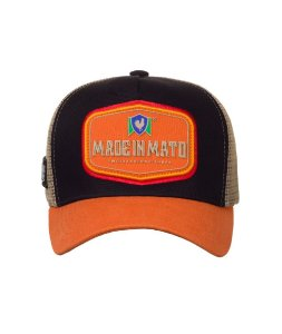 Boné Made in Mato Trucker Vintage Laranja