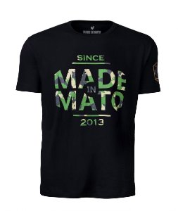 Camiseta Made in Mato Military Preta