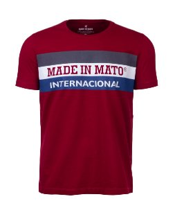 Camiseta Made in Mato Internacional Vinho