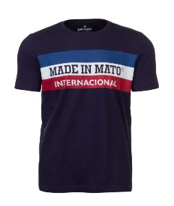 Camiseta Made in Mato Internacional Marinho