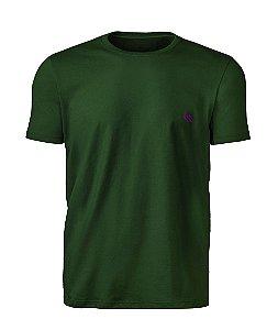 Camiseta  Básica Masculina Verde Floresta índio