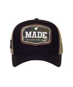 Boné Made in Mato Trucker Military Preto