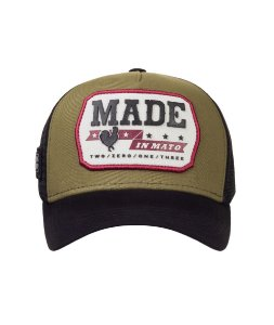 Boné Made in Mato Trucker Vintage Oliva