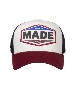 Boné Made in Mato Trucker Vintage Bordô