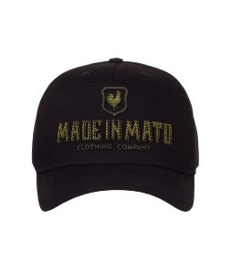 Boné Made in Mato Snapback  Black and Gold