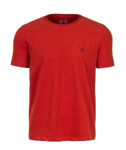 Camiseta Masculina Made in Mato Básica Vermelha Touch