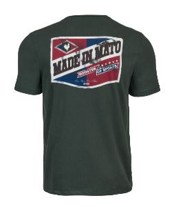 Camiseta Made in Mato Verde Musgo com Estampa nas Costas