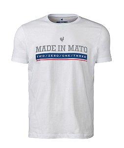 Camiseta Made in Mato Branca Estampada