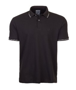 Polo Masculina Chumbo com Filete Claro