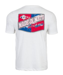 Camiseta Made in Mato Branca Estampa nas Costas