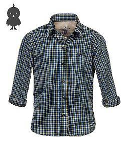 Camisa Made in Mato Feminina Infantil Xadrez