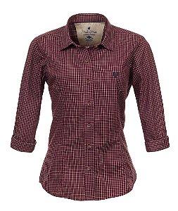 Camisa Feminina Made in Mato Xadrez Vermelha