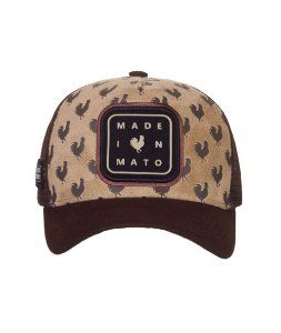 Boné Trucker Made in Mato Galo Estampado