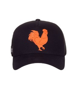 Boné Made in Mato New Trucker Orange and Black