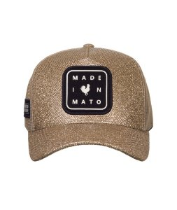 Boné Made in Mato Trucker  Glitter Gold