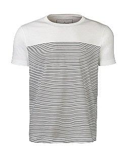 Camiseta Masculina Listrada Off White White
