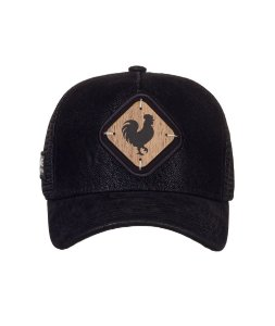 Boné Made in Mato Trucker Nobuck Preto