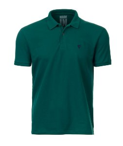 Polo Masculina Made in Mato Verde Petróleo