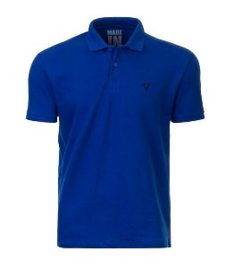 Polo Masculina Made in Mato Azul Royal