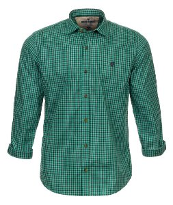 Camisa Masculina Made in Mato Xadrez Mix Verde Água