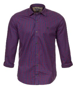 Camisa Masculina Made in Mato Xadrez Mix Roxa