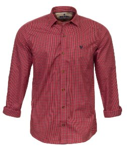 Camisa Made in Mato Masculina Xadrez Vermelho Mix