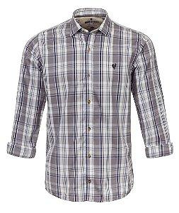 Camisa Made in Mato Masculina Xadrez Cinza