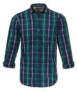 Camisa Made in Mato Masculina Xadrez Verde