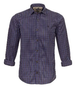 Camisa Made in Mato Masculina Xadrez Mix Azul