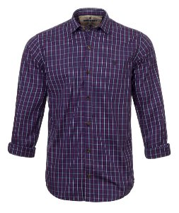 Camisa Made in Mato Masculina Xadrez Mix Blue